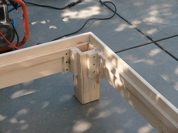 build an outdoor daybed holz garten ideen und gartenideen. Black Bedroom Furniture Sets. Home Design Ideas