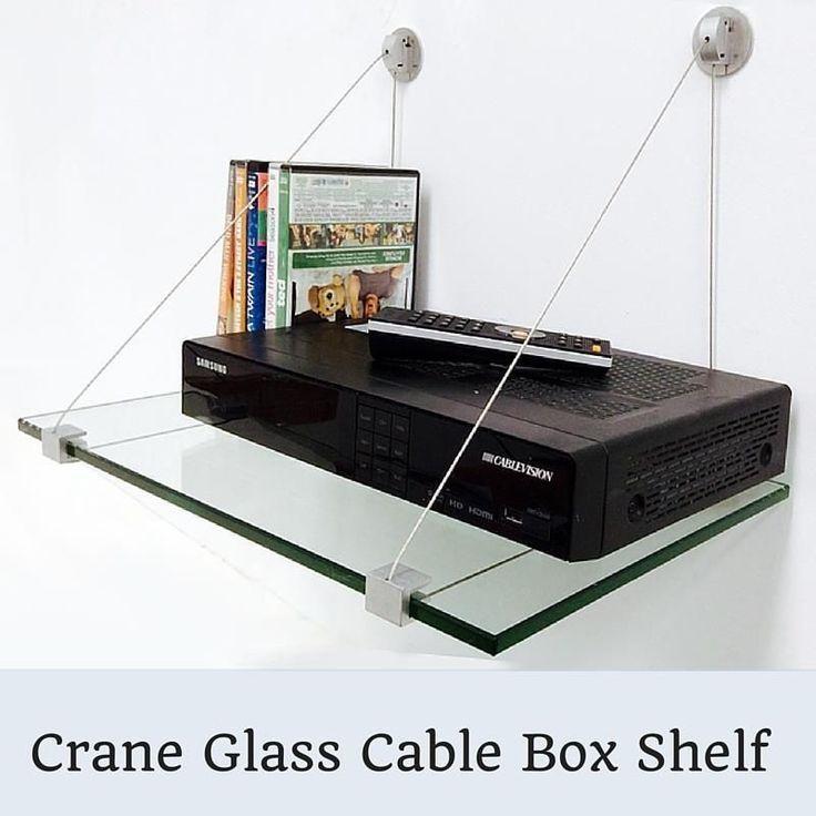 Crane Cable Box Glass Shelf Kit 38 Tempered Glass Shelf with 2 Shelf Brackets