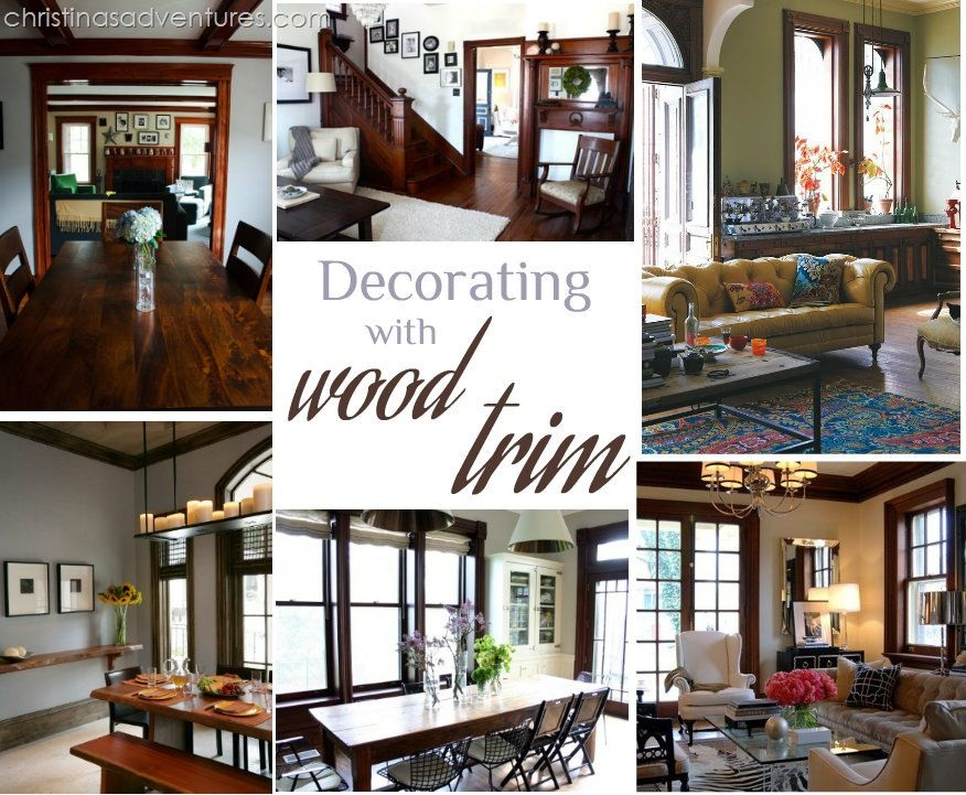 Decorating With Wood Trim Dark Wood Trim Wood Home Decor Stained Wood Trim #wooden #living #room #ideas