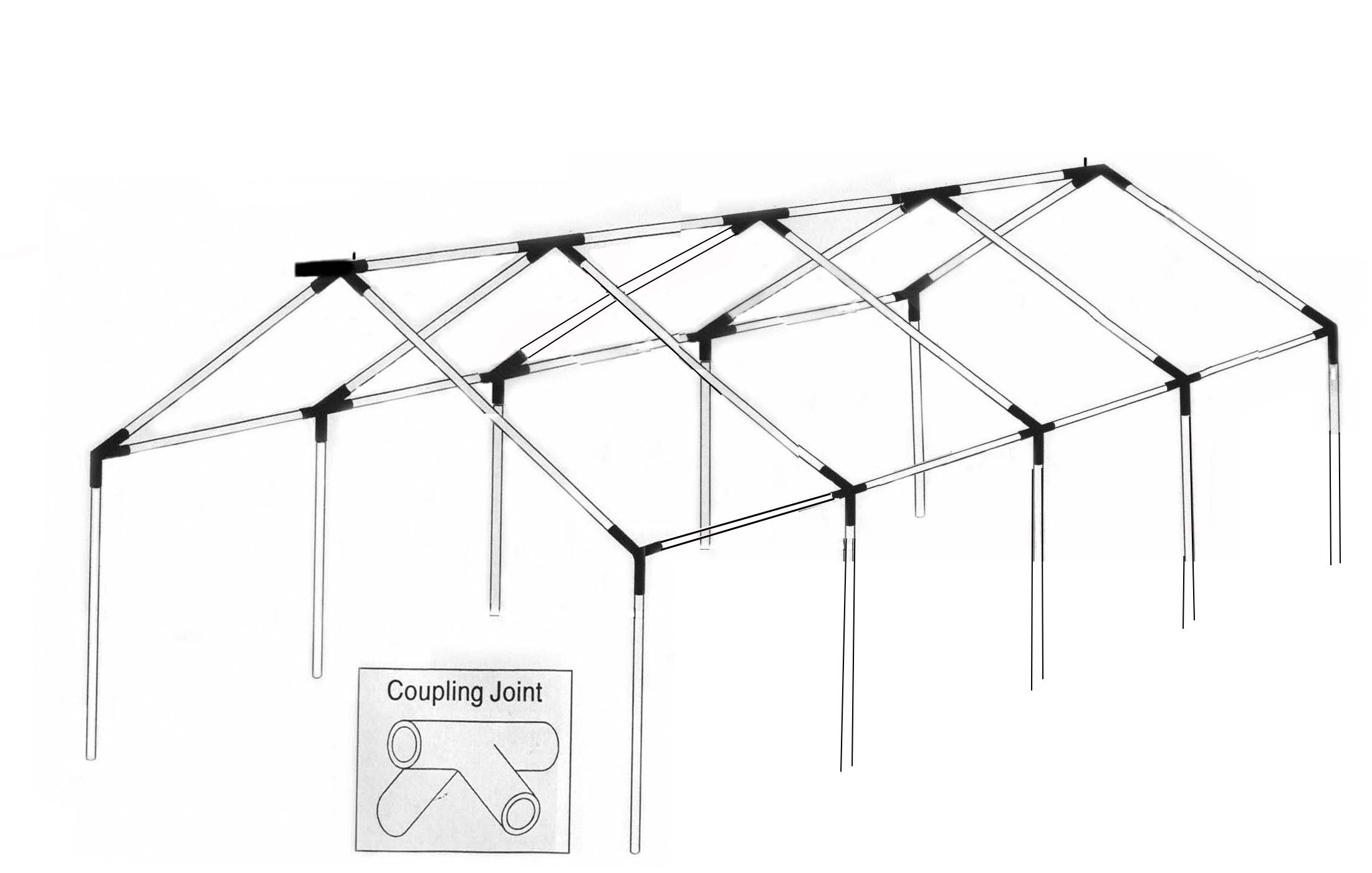 hight resolution of tent frame systems diy party tent diy wedding tent diy tent wedding wall