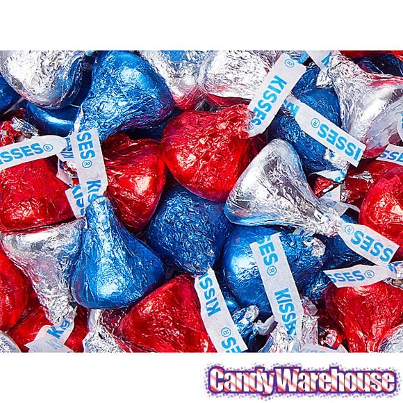 Hershey S Kisses Usa Patriotic Foiled Milk Chocolate Candy 200