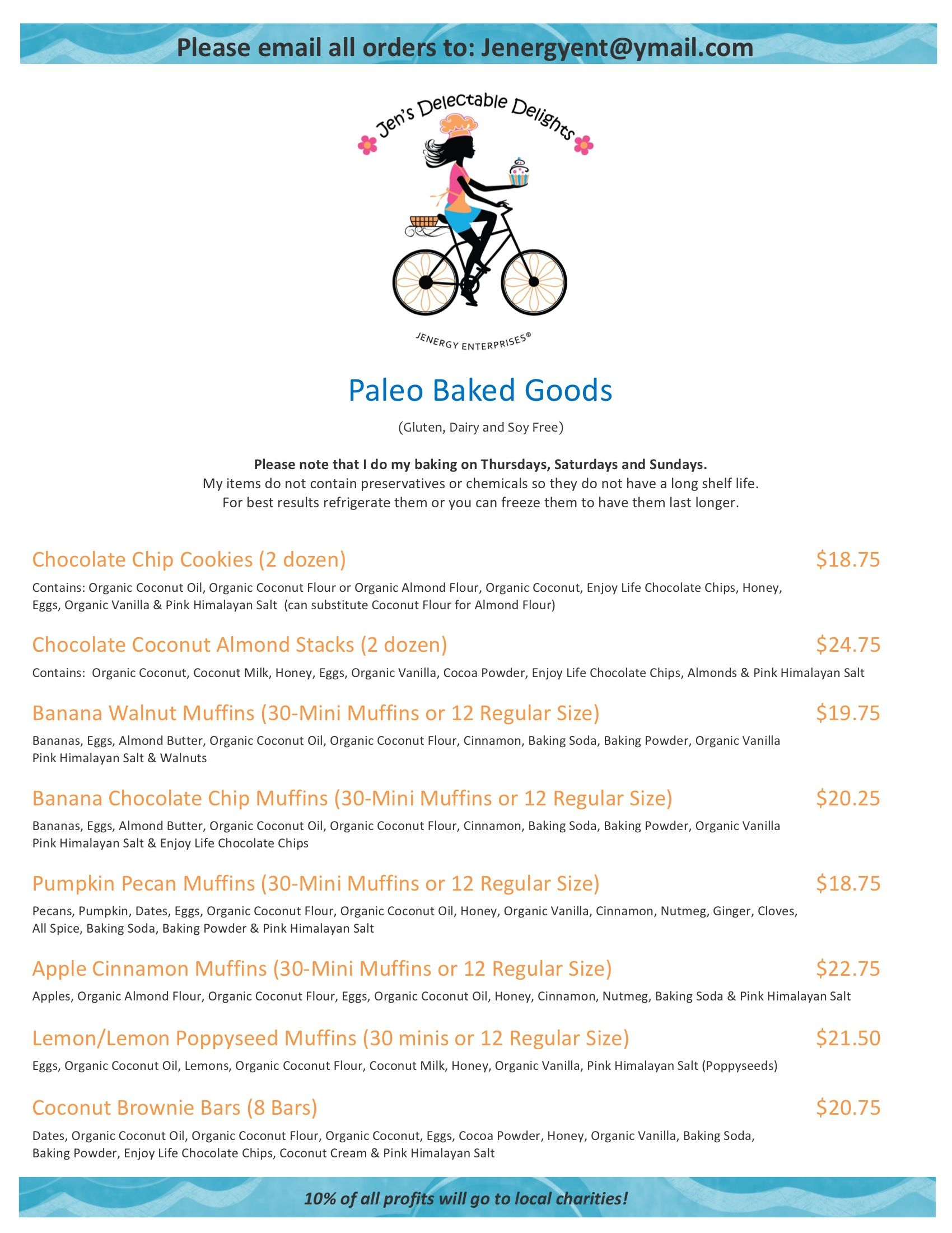 My Menu List And Pricing For My Business My Dream Is Now A
