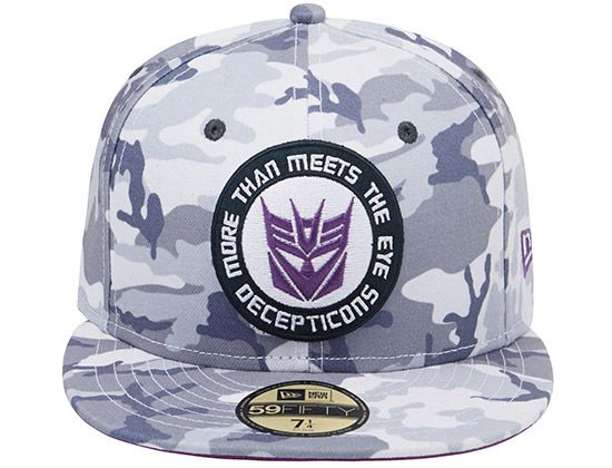 Transformers Decepticons White Camo 59Fifty Fitted Cap by NEW ERA x HASBRO f243f3ee4c0