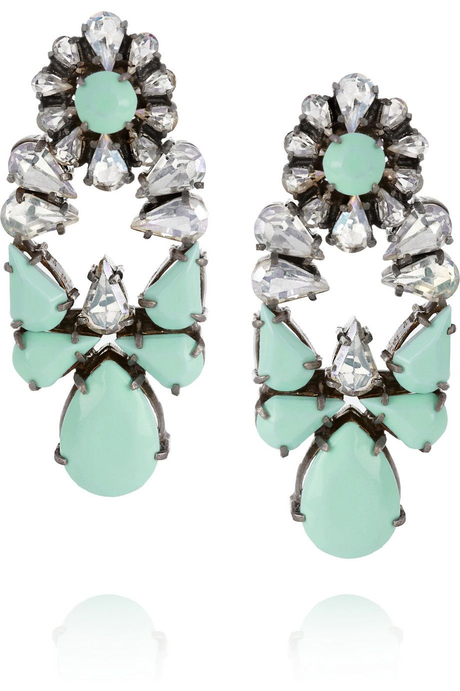 f440be43c664 the sparkly earrings you NEED for the holidays Pendientes Azules