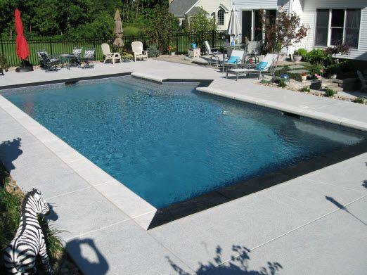 stamped concrete pool deck photos | latest concrete pool deck