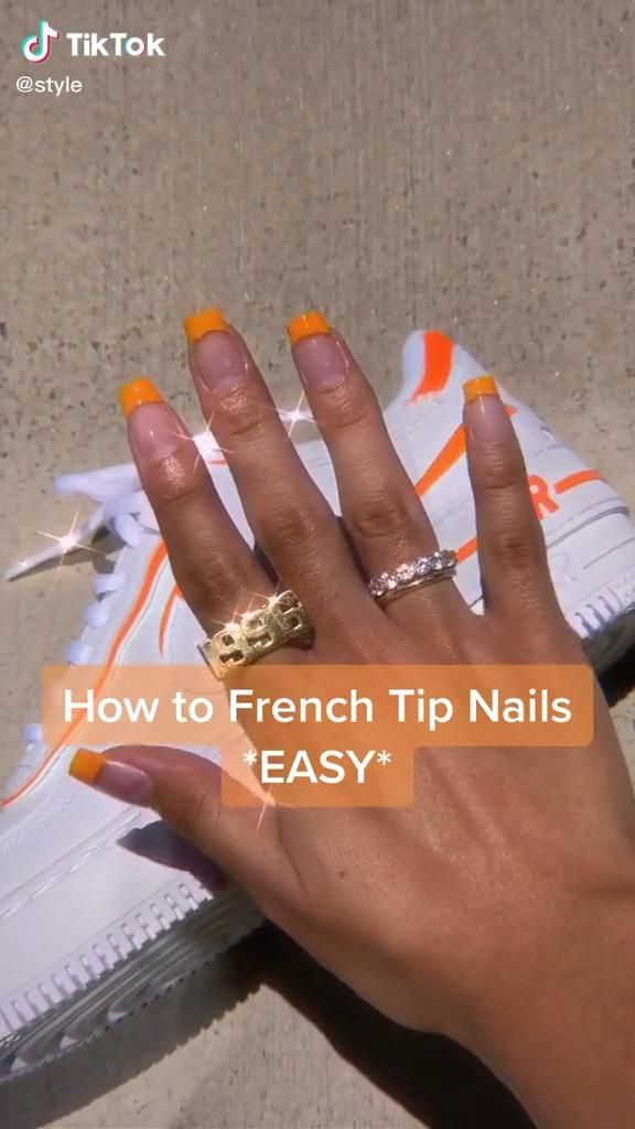 Simple French Tip Nails Tutorial 🦋