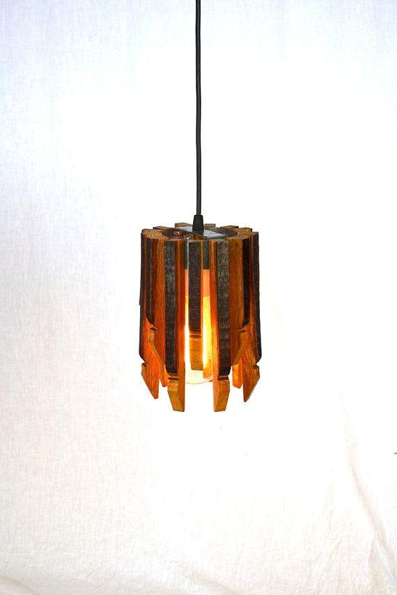 Wine Barrel Hanging Pendant Light Basket By Winecountrycraftsman