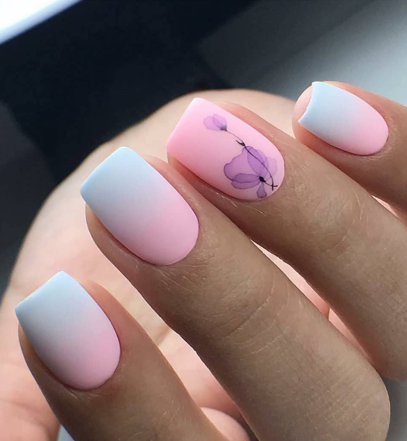 50 Cute Short Acrylic Square Nails Design And Nail Color Ideas For Summer Nails Page 33 Of 51 Latest Fashion Trends For Woman Nail Art Ombre Square Nail Designs Matte Nails Design