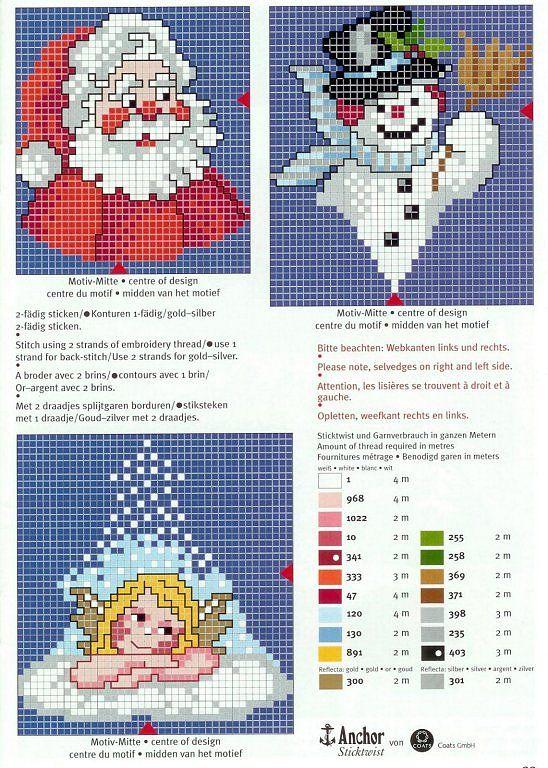 Solo Patrones Punto Cruz | Noel punto de cruz | Pinterest | Punto de ...