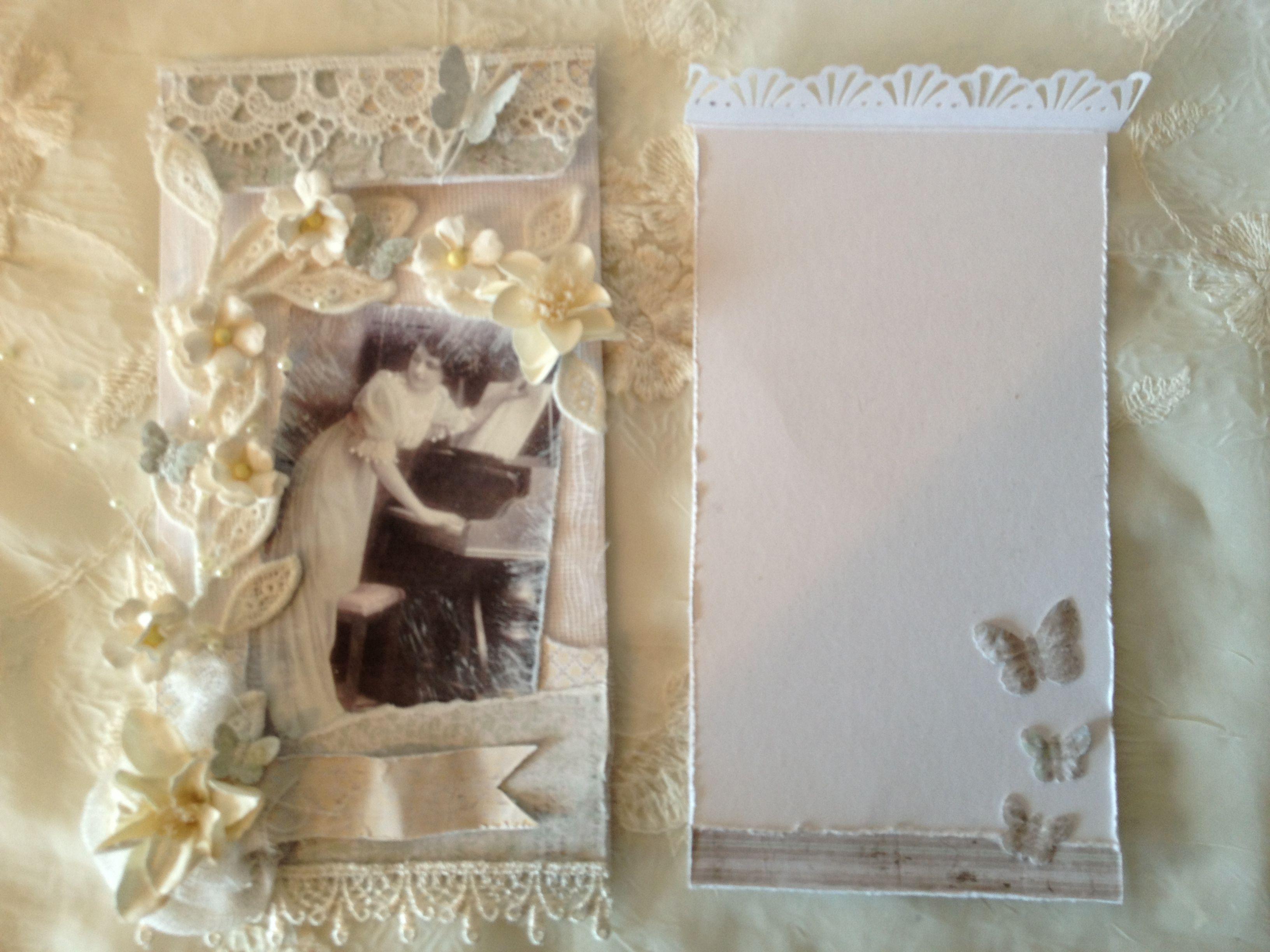 Vintage springs card and envelope