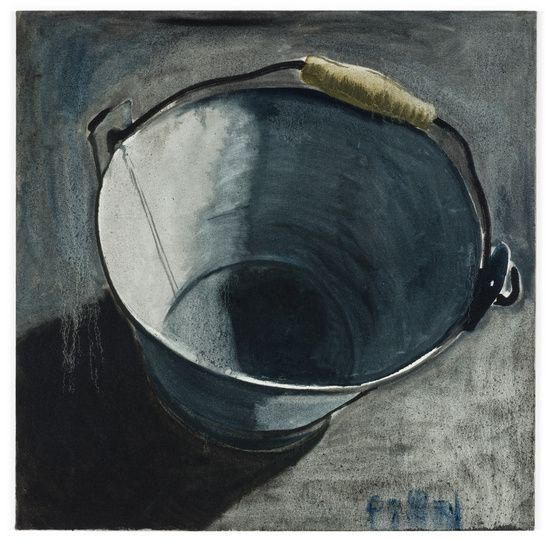 Zhang Enli. Bucket 9, 2007. Oil on canvas, 100 x 100 cm ...