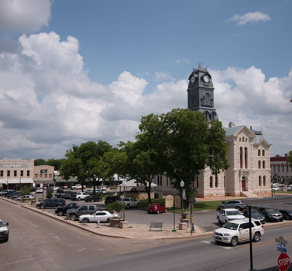 Hood County Courthouse Historic District in Texas.