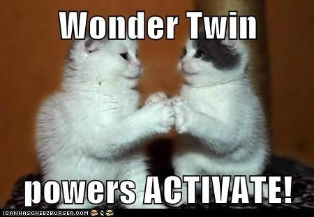 80e36073dd137b2cf4e212373f164b7f behind the super friends wonder twin powers, activate! the,Birthday Meme For Twins