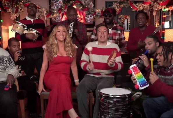 Mariah Carey Sings All I Want For Christmas With Jimmy Fallon And The Roots Mariah Carey Mariah Carey Music Mariah Carey Music Videos