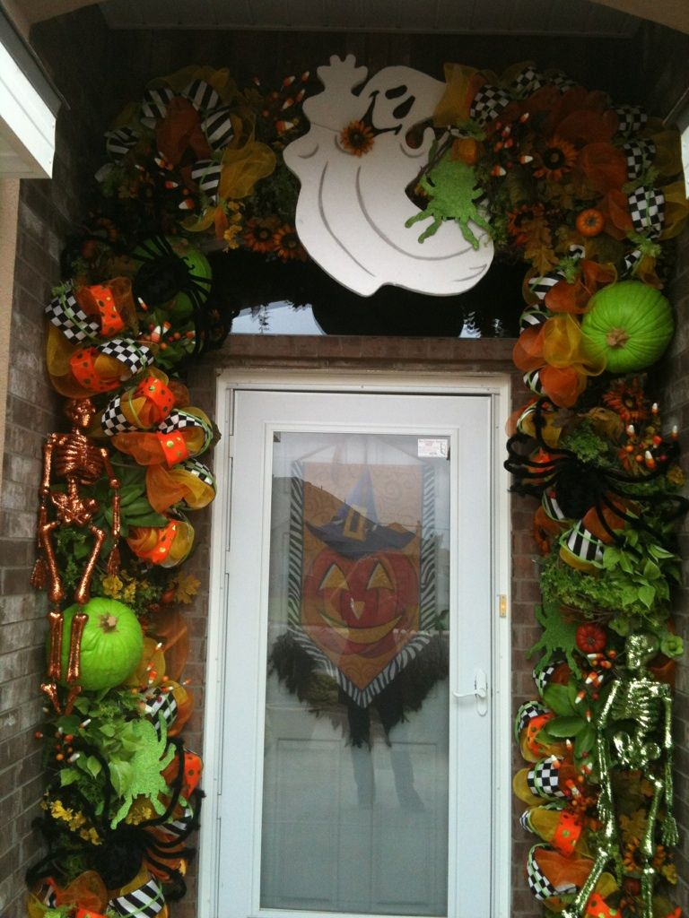 Pin by Sandrita Medina on Hallowen Pinterest Halloween door - Halloween Door Decoration Ideas