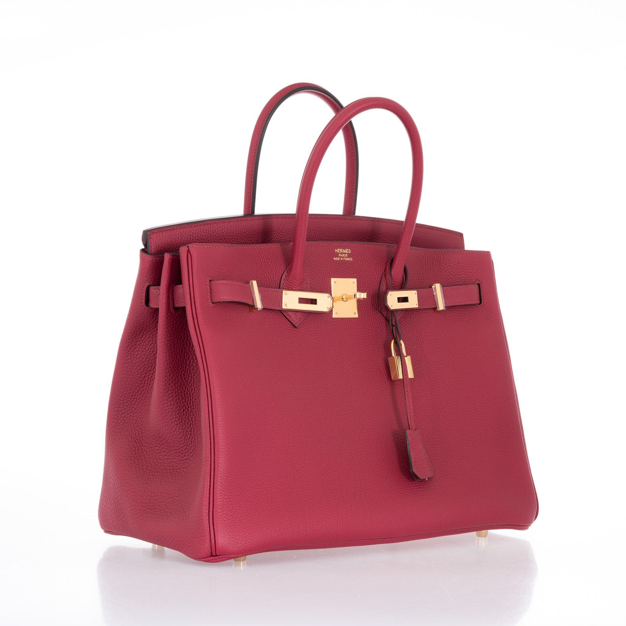 f1bad5b7e74 Hermes Birkin 35 Red Rouge Grenat Togo Gold Hardware One of our favorite  combinations