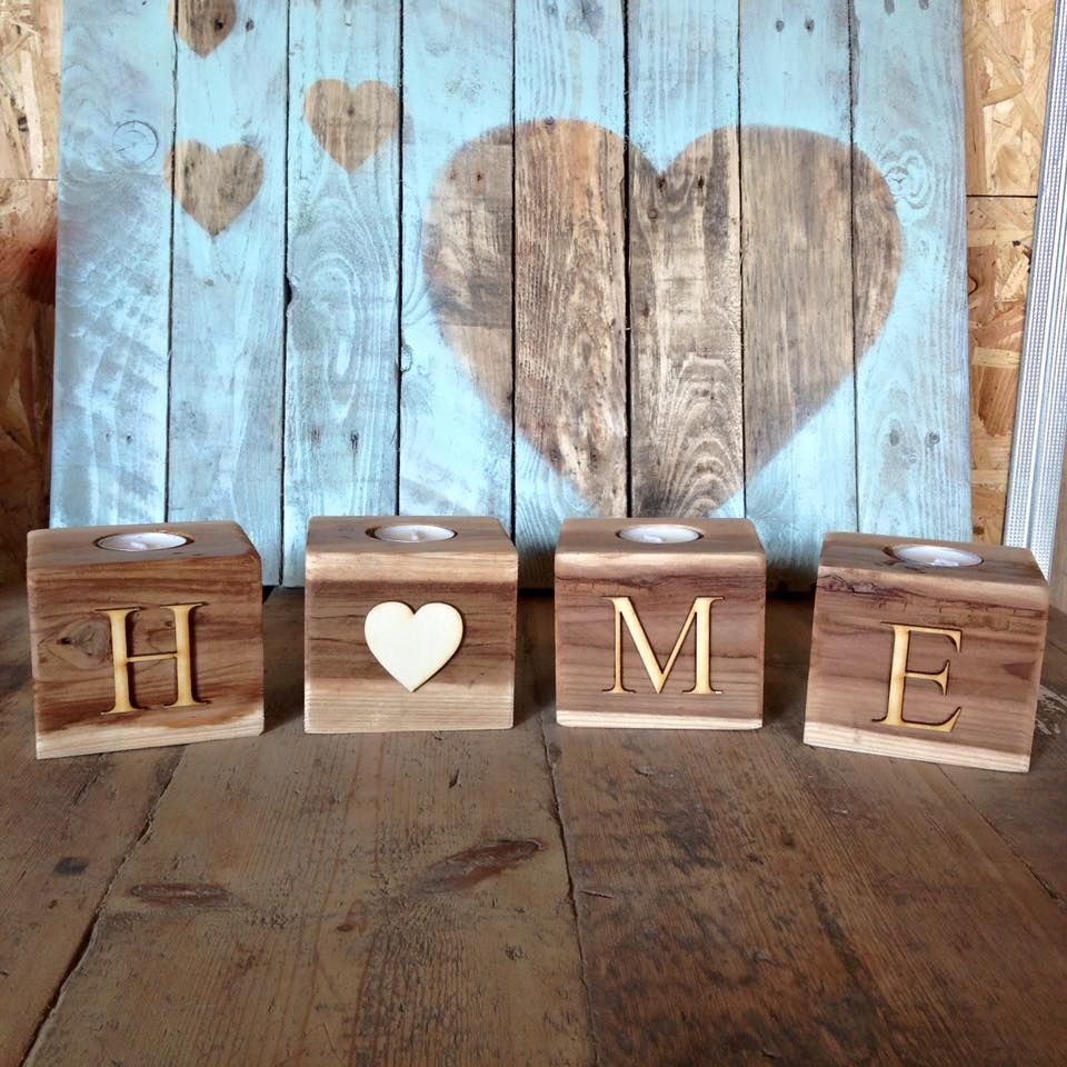 Wooden pallet candle holder ideas wooden pallets for Wooden candlesticks for crafts
