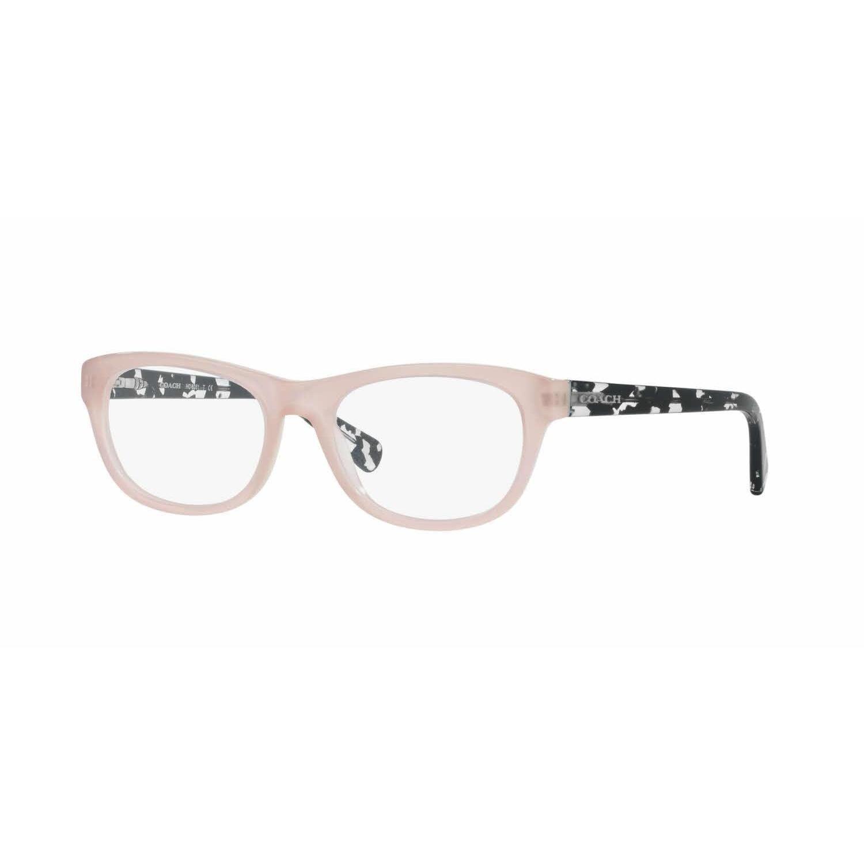683fc54da6c Coach Womens HC6081 5350 Pink Plastic Rectangle Eyeglasses
