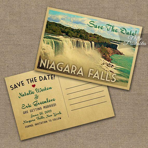 Niagara Falls Save The Date Postcards - Printable Niagara
