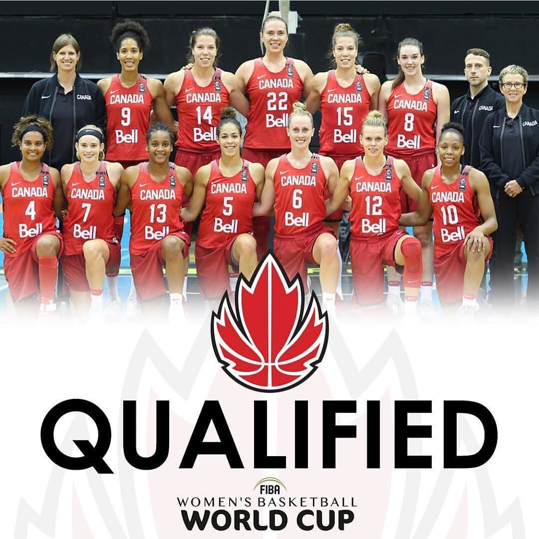 Canadabasketballofficial Heading To Fiba Women S Basketball World Cup 2018 Weareteamcanada Fibawwc Womens Basketball Team Canada World Cup 2018