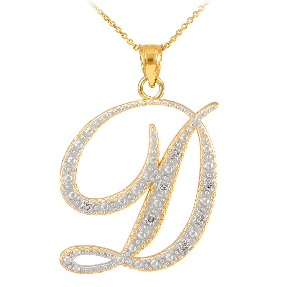 14k gold letter script d diamond initial pendant necklace 14k gold letter script d diamond initial pendant necklace 17999 sku aloadofball Choice Image