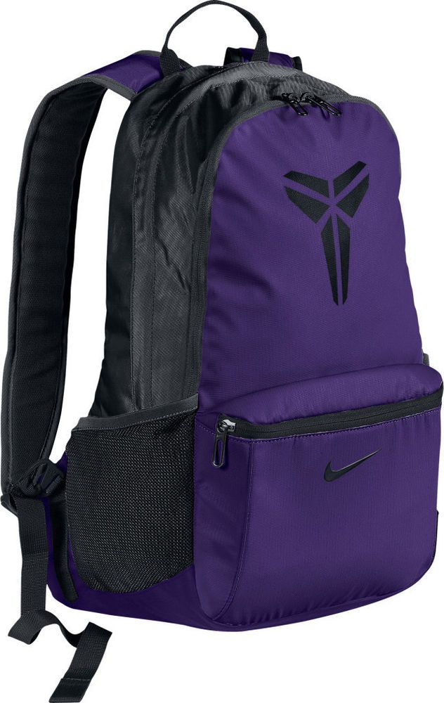 b27b59822696 NIKE Unisex MAX AIR KOBE Basketball Backpack Bookbag Purple-Black  (BA4414-051)