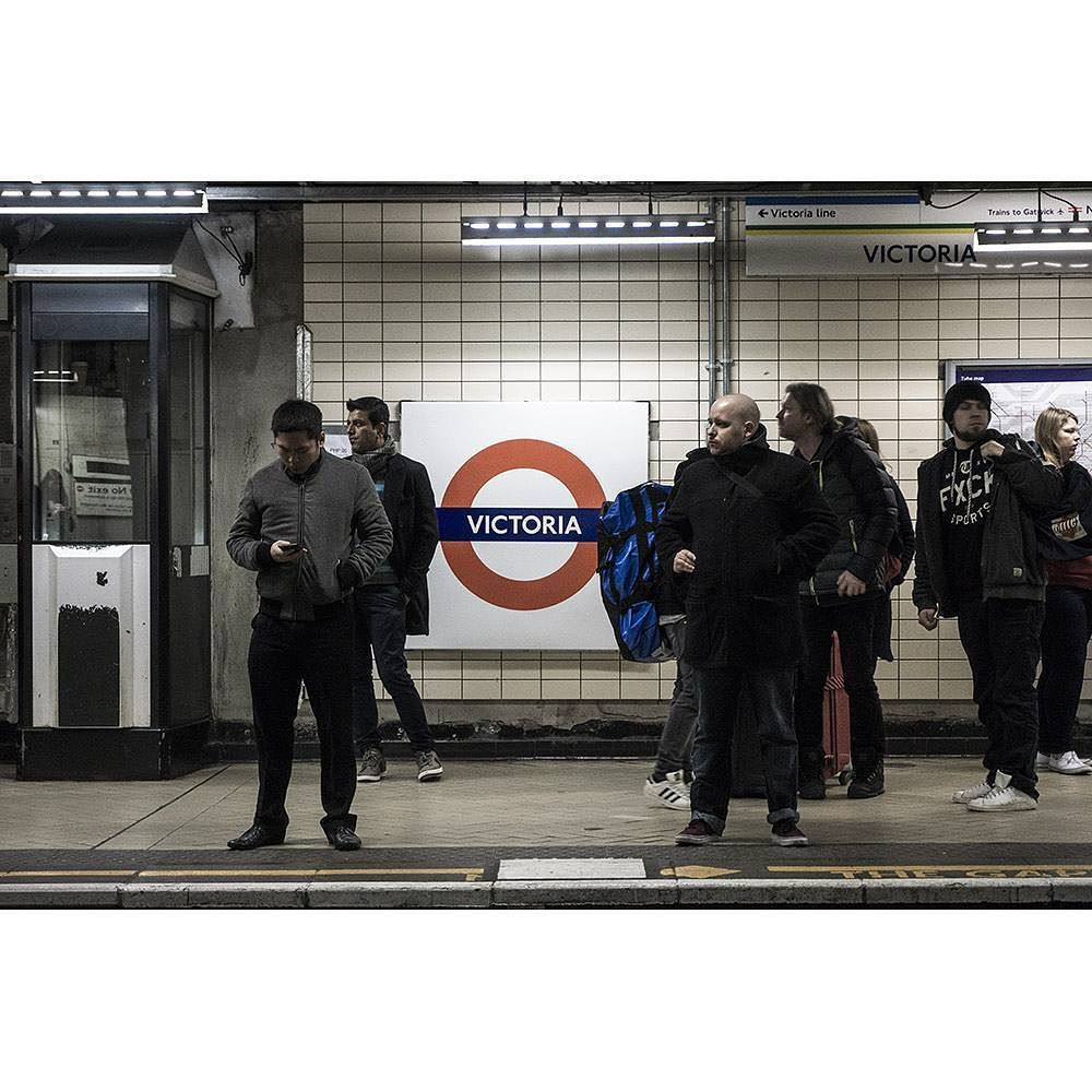 Waiting the next train in #victoria #London #Underground  #photography #photooftheday