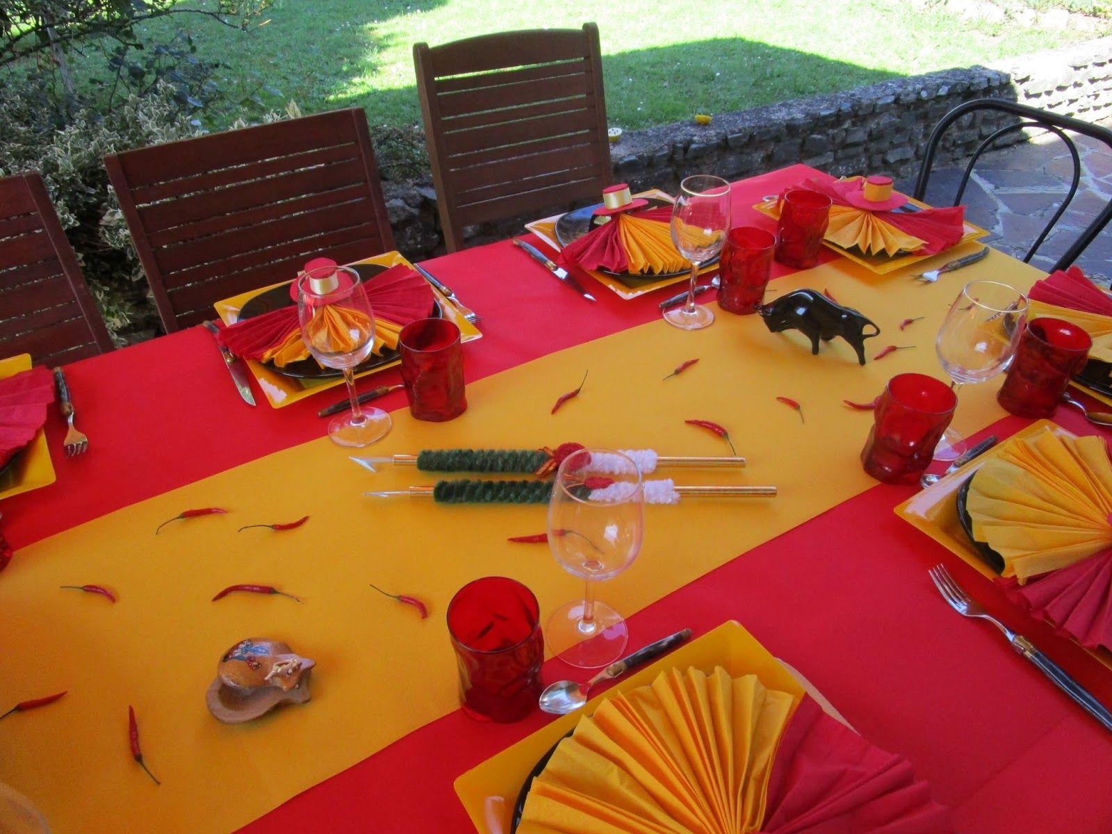 decoration de table espagne