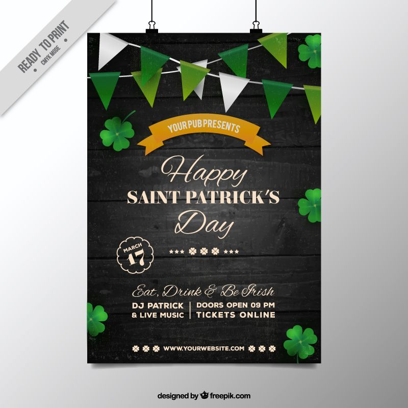 freebie  5 free flyer  u0026 poster templates for st  patrick u0026 39 s