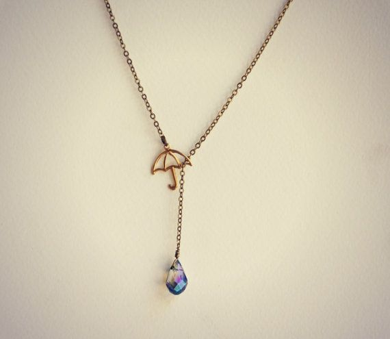 drop uncommongoods product silver necklace raindrop