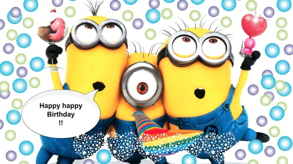 Merveilleux Happy Birthday Minion Style Wallpapers ,Minions Style Happy Birthday Wishes  ,messages.Funny Birthday Pics For Whatsapp Minions Wishing Happy Birthday  Photos