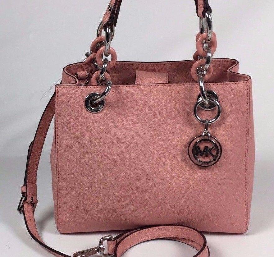 7c33f05563f4 discount code for michael kors cynthia mini c6cc6 95ad2; closeout new michael  kors cynthia small pale pink saffiano leather satchel bag michaelkors  satchel ...