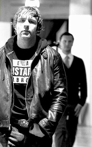 So... this is my bae. We've already met twice. 1) gave me his sweater. 2) BLEW A KISS AND WAVED AND WINKED AT ME!!! I don't care if anyone say that he doesn't remember me, but I'LL remember the first time I ever met him. So ya. I love you Dean Ambrose♡