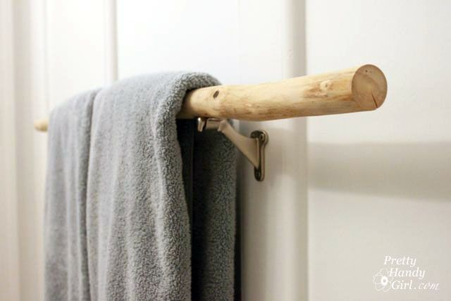 Sanding Tutorial And Prepping A Branch Towel Bar Diy Towel Rack Diy Towels Diy Closet