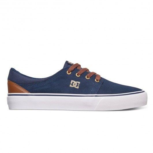 34b781a7ee DC Shoes Trase SD chaussures en daim bleu et marron 75