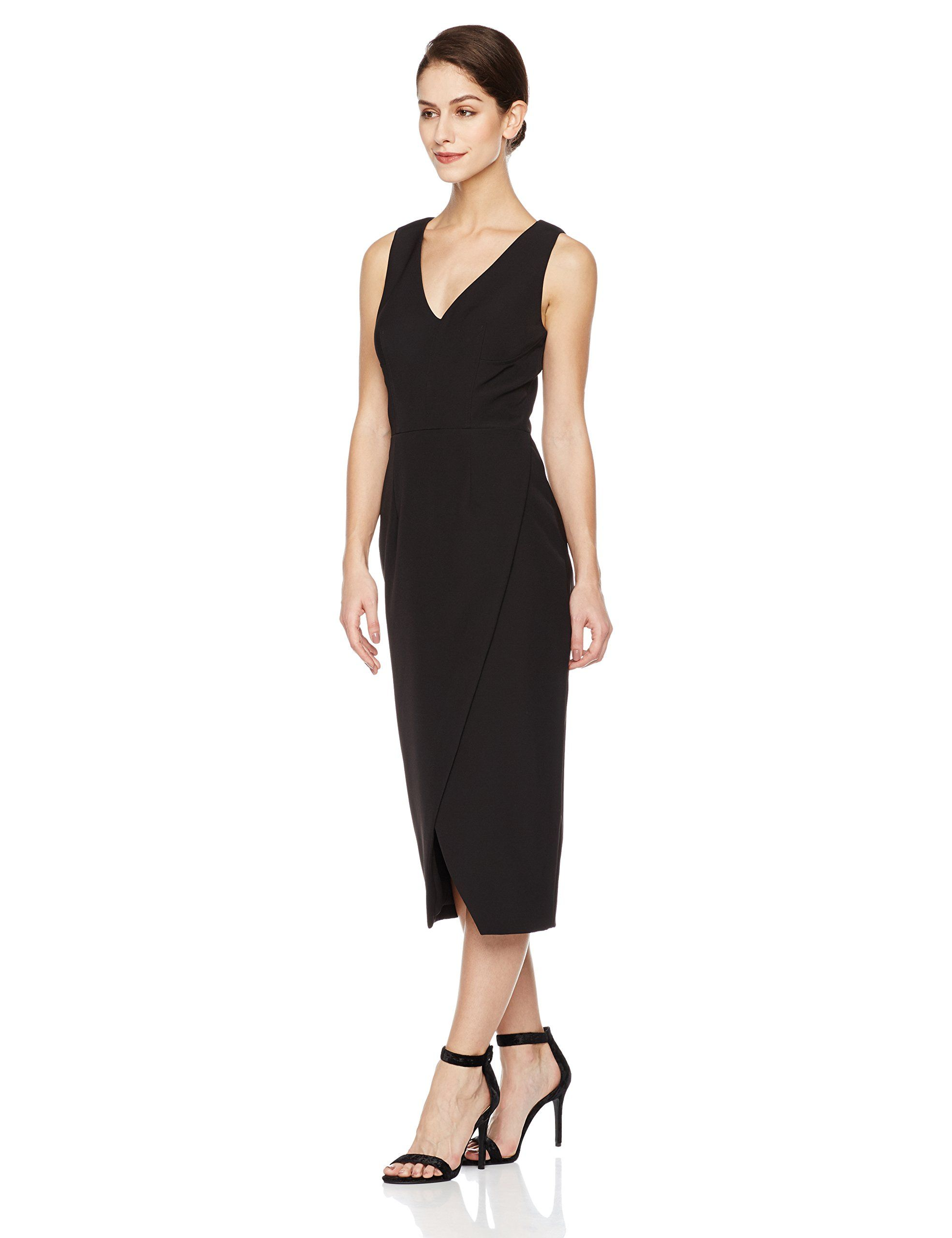 9f6408d8f Social Graces Womens VNeck Overlap Skirt Stretch Crepe Back CutOut Pencil  Dress 16 Black ** Find out more at the picture link. (This is an affiliate  link).