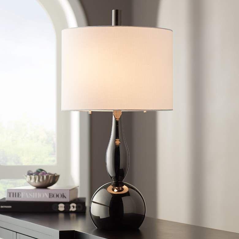 Graham Gunmetal Modern Gourd Table Lamp 74n87 Lamps Plus Table Lamp Lamp Lamps Plus