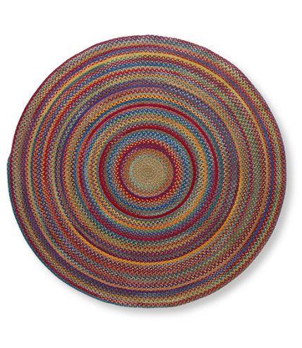 Bean Braided Wool Rug X Round