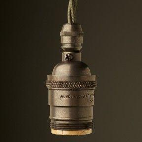 E26-antique-bronze-pendant-cordgrip-lampholder