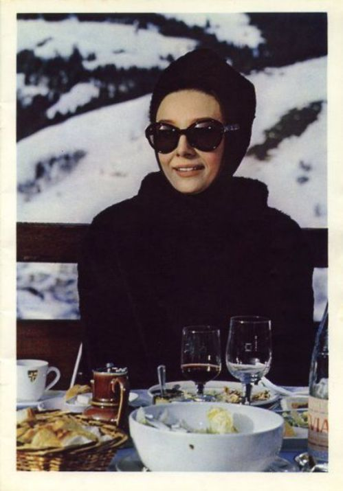 """Audrey in Charade.  The only film she made with the yummy Cary Grant.  I so wish that Cary had agreed to make """"Sabrina"""" with her but he thought he was too old. Humphrey Bogart WAS too old!!!"""