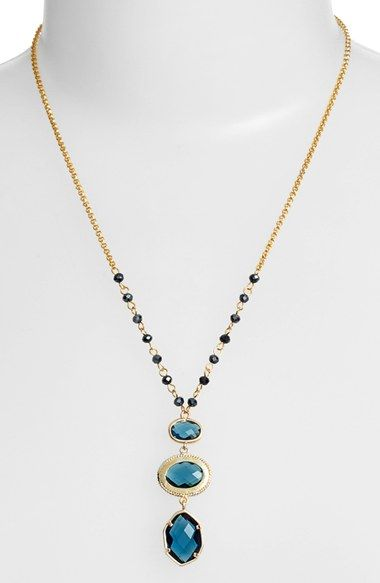 Nordstrom 3 Stone Pendant Necklace available at #Nordstrom