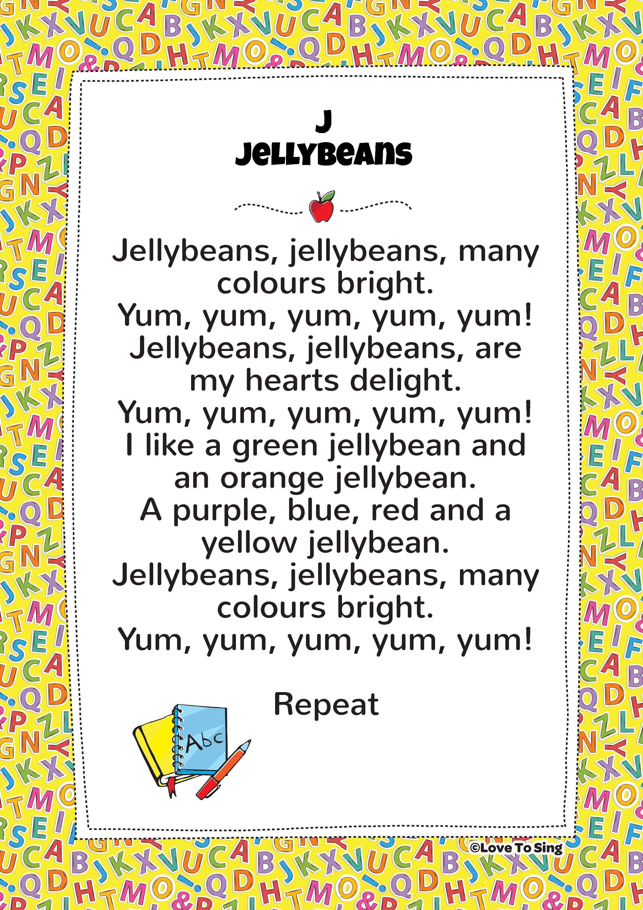 J Jelly Bean Phonics Song