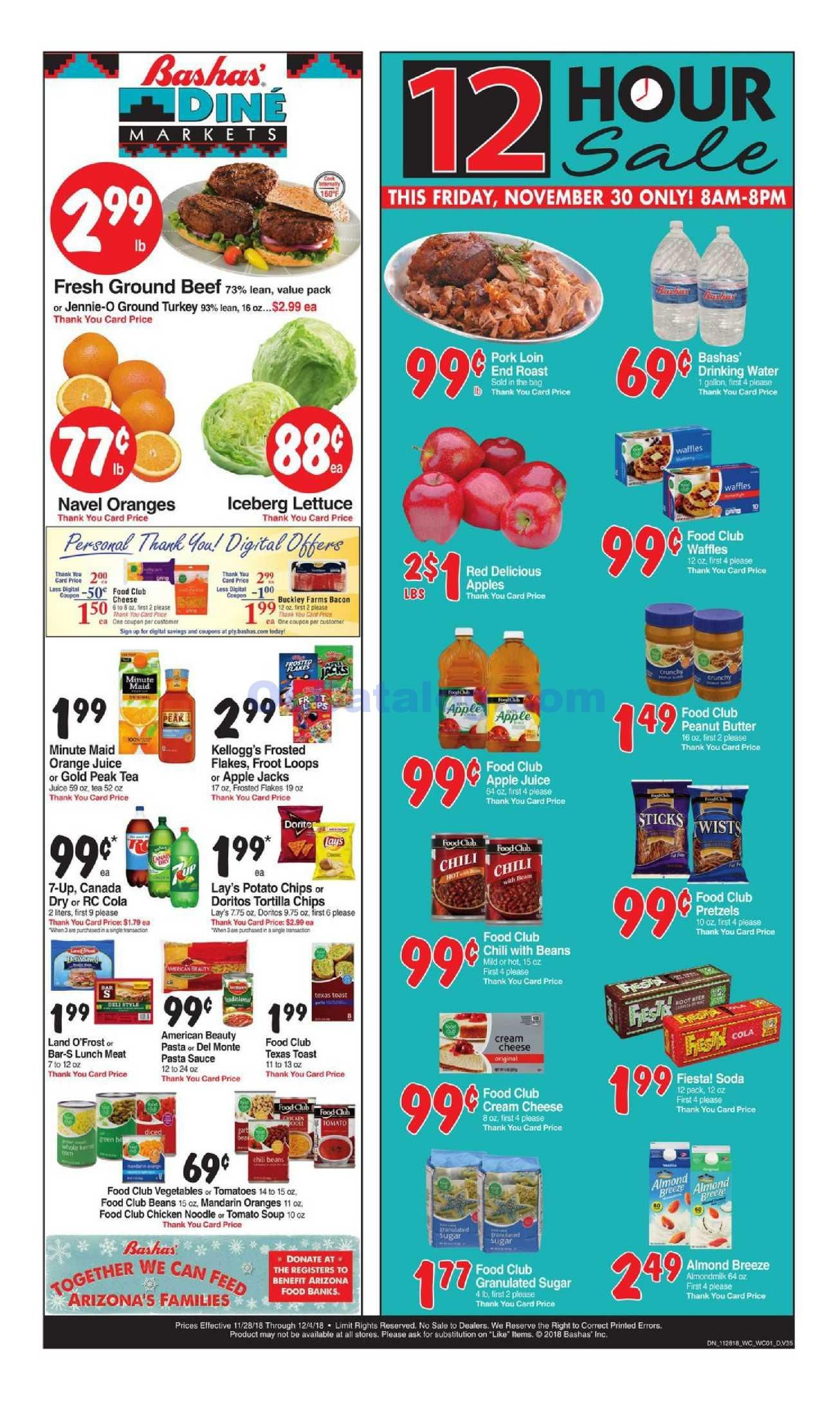 Bashas Weekly Ad November 28 December 4 2018 Do You Know