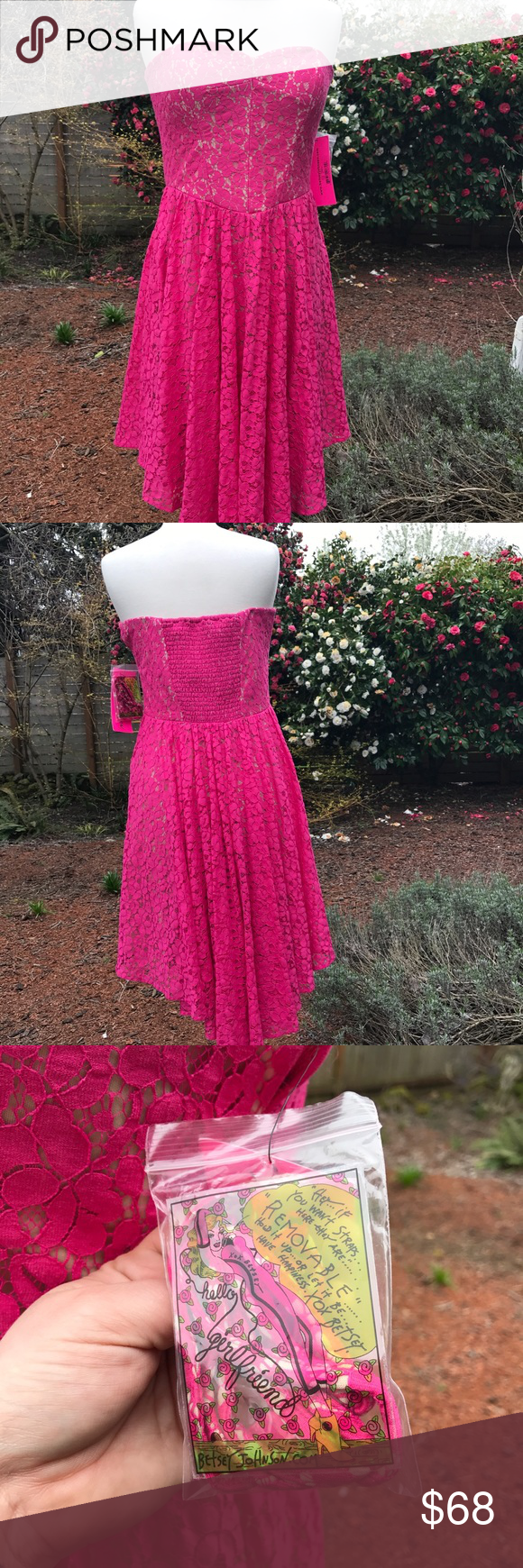 💖Pretty in pink! HOT pink lace punk party dress💖 NWT | Pink ...