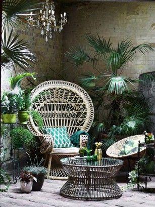Een Exotische Vibe Met Rotan Roomed Tropische Decoratie Decoraties Tuinkamer
