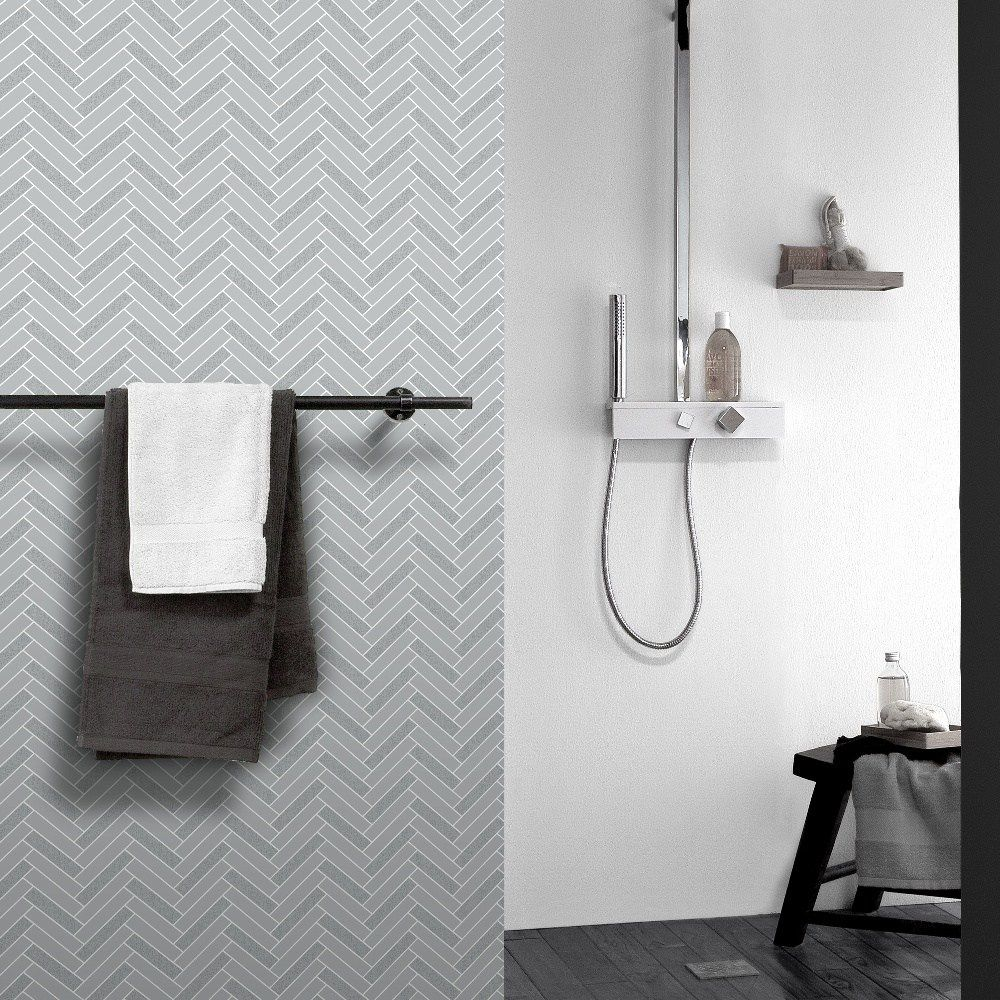 Bathroom Wallpaper, Vinyl Bathroom Wallpaper