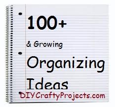 100 and Growing – Organizing Ideas  / DIYCraftyProjects.com - lots of great organizing ideas in this post - love the denim organizers, great idea for using up old jeans