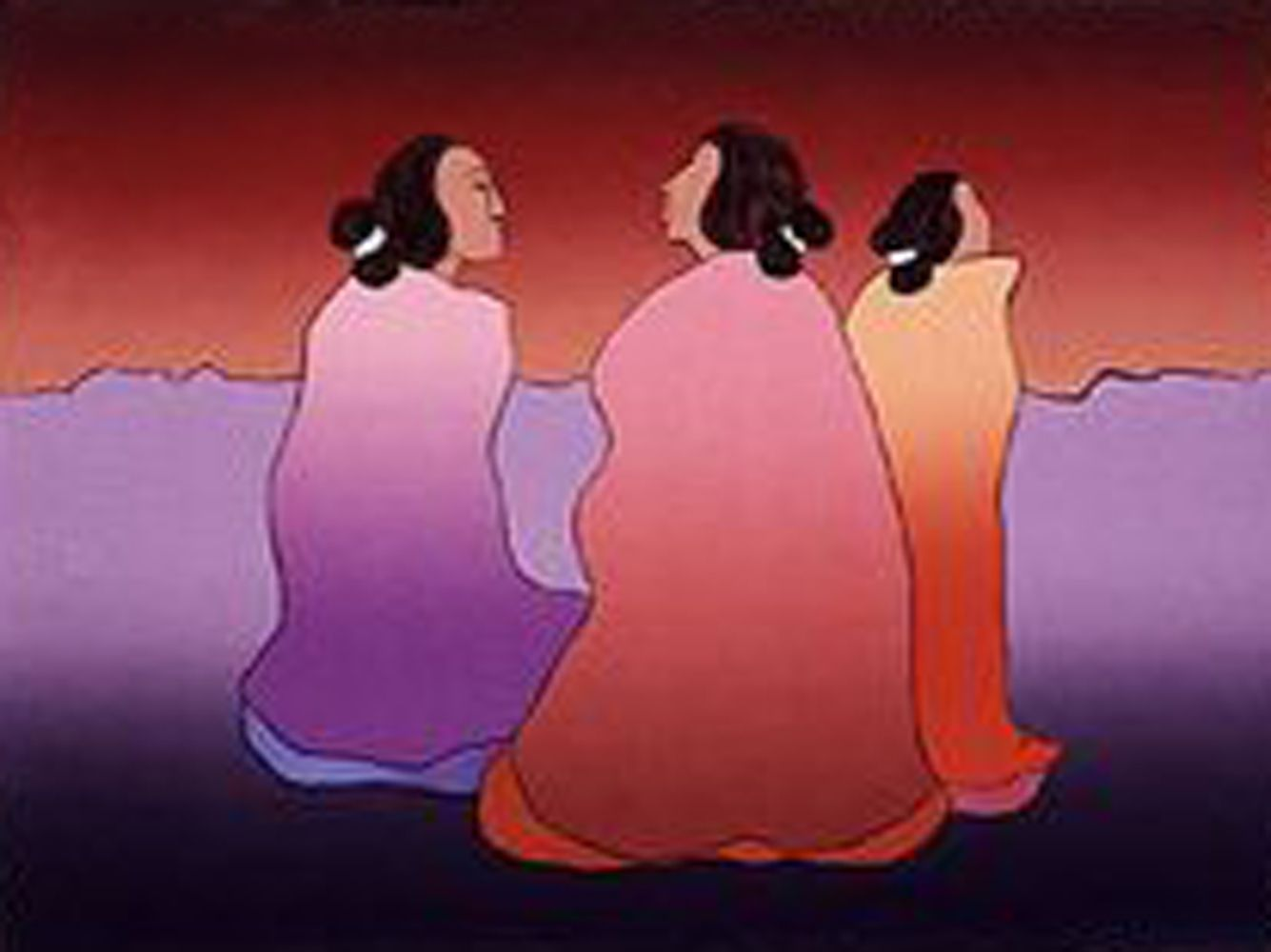 Dusk 1990 by rc gorman serigraph on paper three graces dusk 1990 by rc gorman serigraph on paper dailygadgetfo Image collections