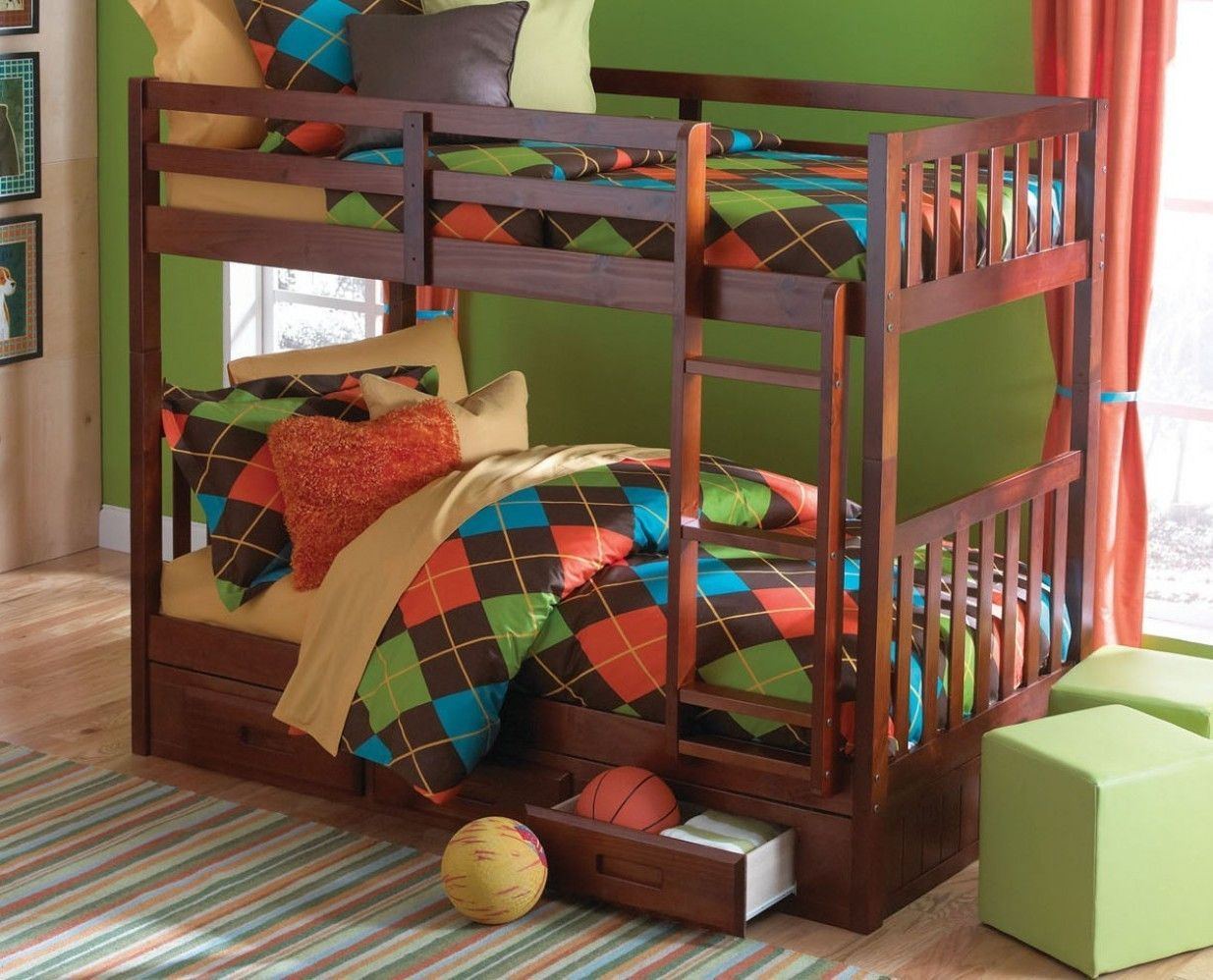 Isla Twin Bunk Bed with Storage Twin bunk beds, Bunk