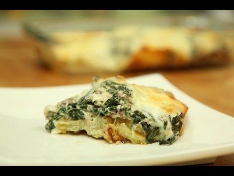 طريقة عمل غراتان السبانخ والبطاطا من زيتونة Main Dish Recipes Food Dishes Food